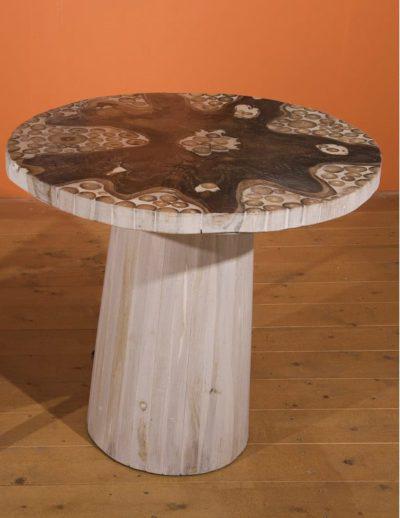 Ξύλινο Τραπέζι Φ80 Από Κορμούς Ε-227047