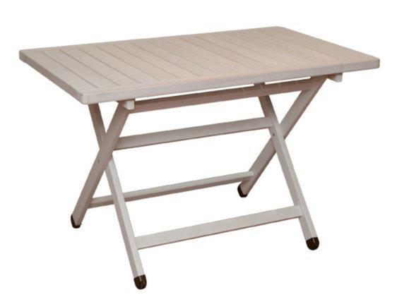 Λευκό Ξύλινο Πτυσσόμενο Τραπέζι Κ-220154