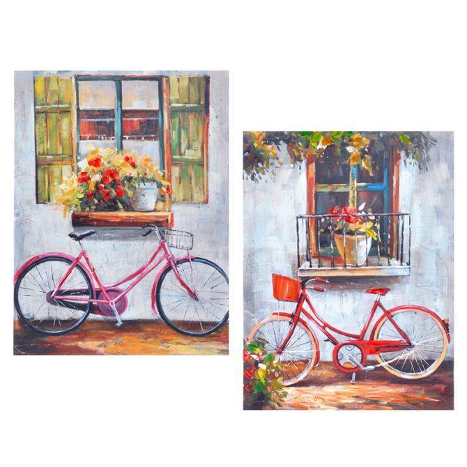 Πίνακες με Ποδήλατα Σετ των 2 Η-210520