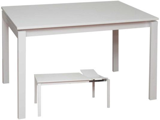 Επεκτεινόμενο Τραπέζι Κουζίναs Λακαριστό KO-2058, Διαστάσεις:80x120+40