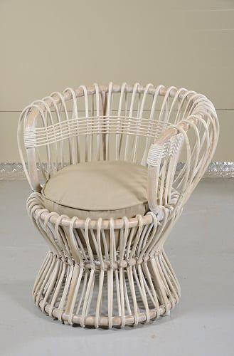 Μοντέρνα Πολυθρόνα Από Φυσικό Bamboo J-220238