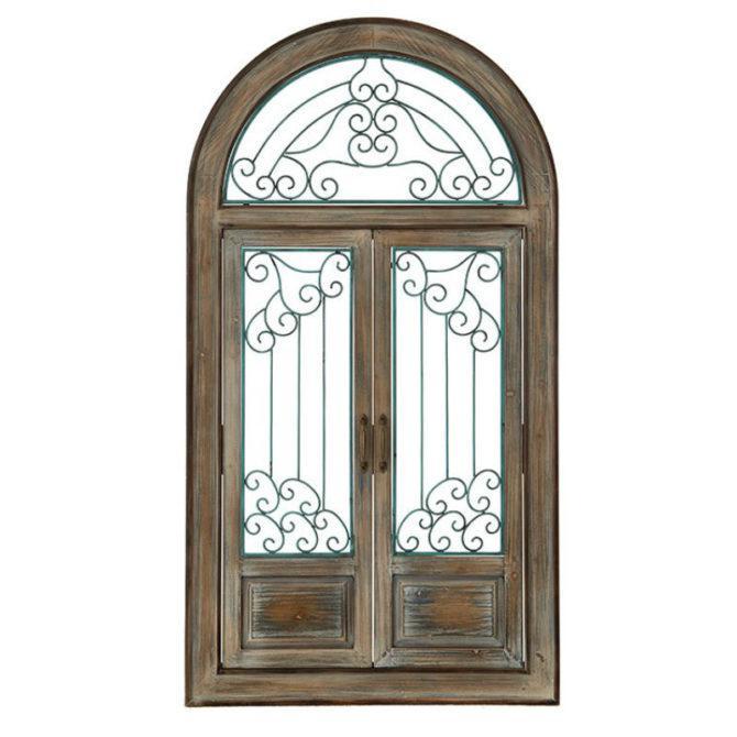 Vintage Ξύλινη Πόρτα Τοίχου Η-147562