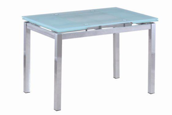 Γυάλινο Τραπέζι με Μεταλλικά Πόδια και Επέκταση Κ-140224