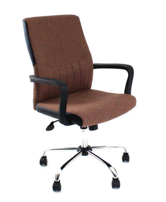 Υφασμάτινη Καφέ ή Μαύρη Καρέκλα Γραφείου A-080360