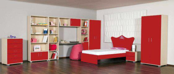 Δωμάτιο Παιδικό Με Κρεβάτι Σε Σχήμα Κορώνας Α-280031