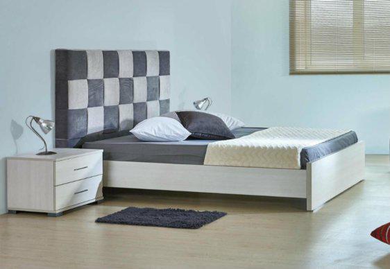 Διπλό Κρεβάτι Με Ύφασμα Και Διχρωμία A-050447