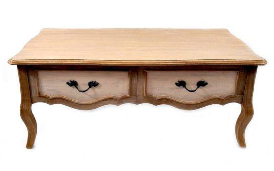 Ξύλινο Vintage Τραπεζάκι Με Καμπυλωτά Ποδαρικά Fl-142532