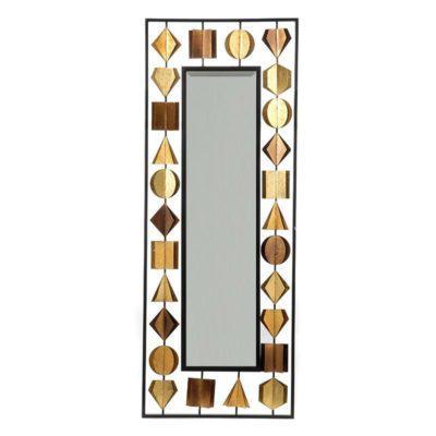 Μακρόστενος Καθρέφτης με Μεταλλικό Πλαίσιο Η-330097