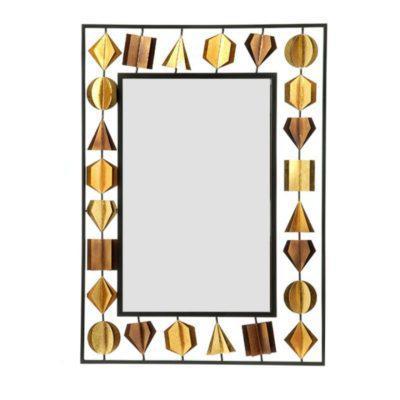 Χρυσός Μεταλλικός Καθρέφτης Η-330094