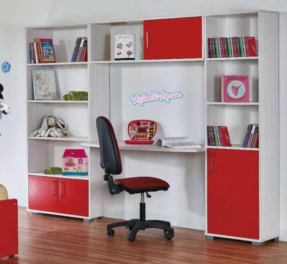 Παιδική Σύνθεση Με Τρεις Βιβλιοθήκες Και Γραφείο Α-271048