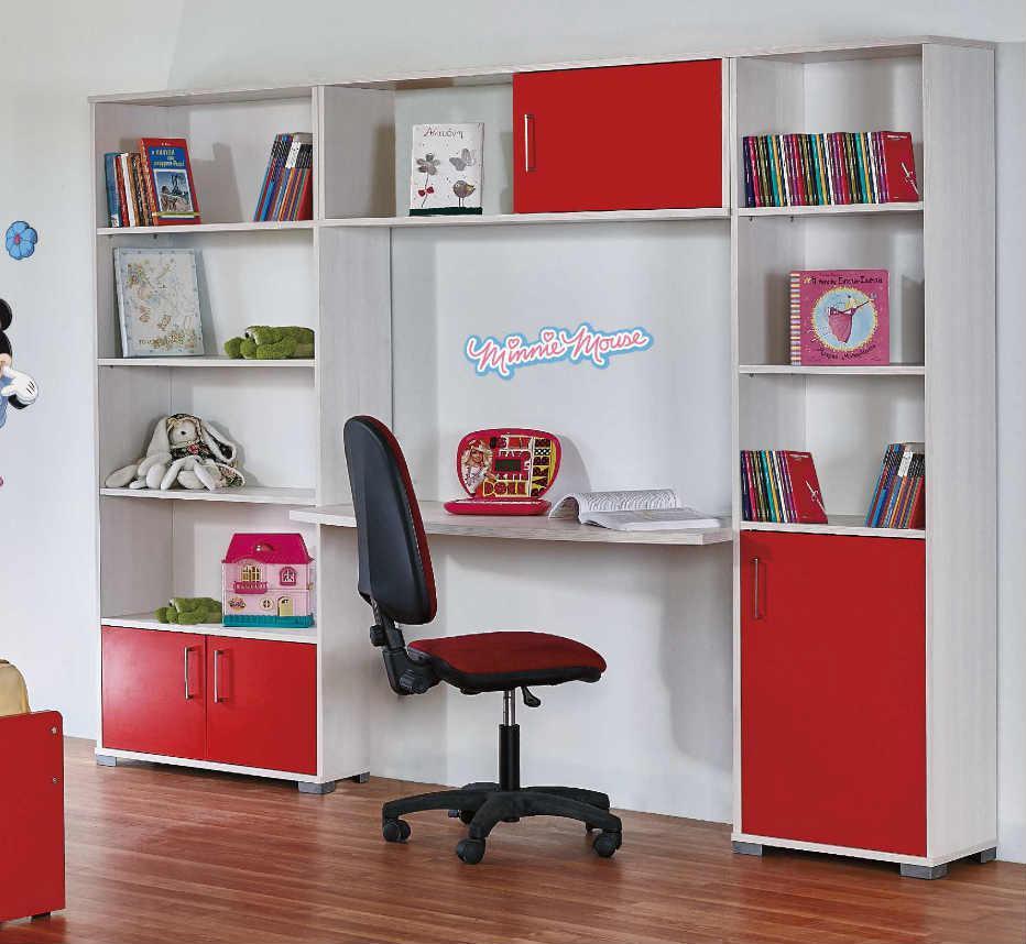 61e634916f5 Παιδική Σύνθεση Με Τρεις Βιβλιοθήκες Και Γραφείο Α-271048 - Έπιπλα ...