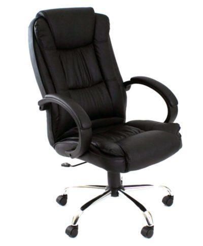 Πολυθρόνα Γραφείου Μαύρη Δερματίνη Z-080362