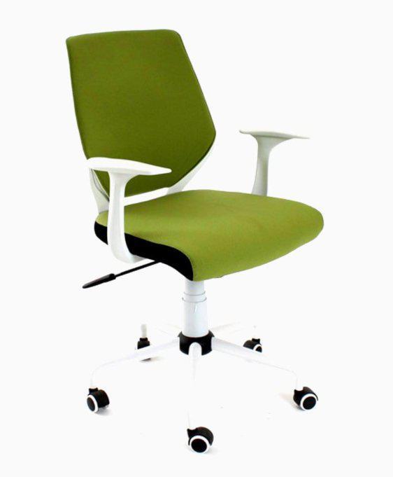Πράσινη Καρέκλα Γραφείου Με Άσπρη Βάση Και Ανάκλιση A-080340