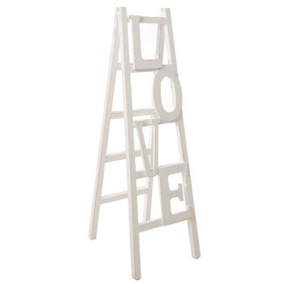 Λευκή Ξύλινη Σκάλα Love H-147599