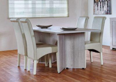 Τραπέζι Με Μοντέρνα Τριγωνικά Ποδαρικά A-122036