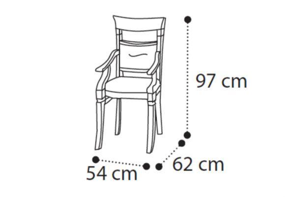 Ιταλική Πολυθρόνα Με Χειροποίητο Σκάλισμα CG-135102