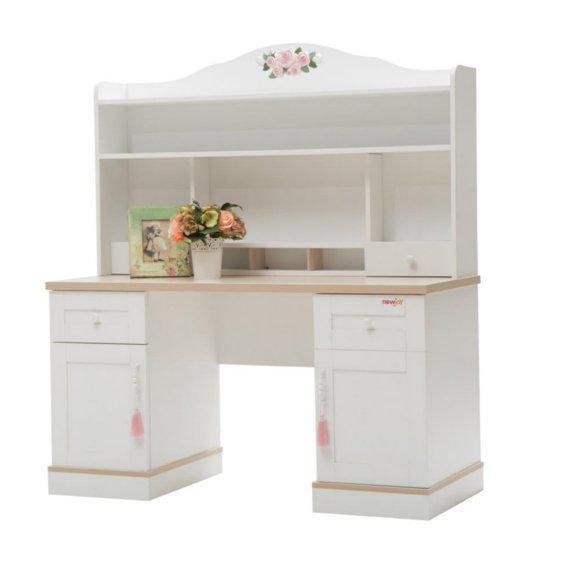Λευκό Vintage Γραφείο Με ή Χωρίς Εταζέρα R-271049