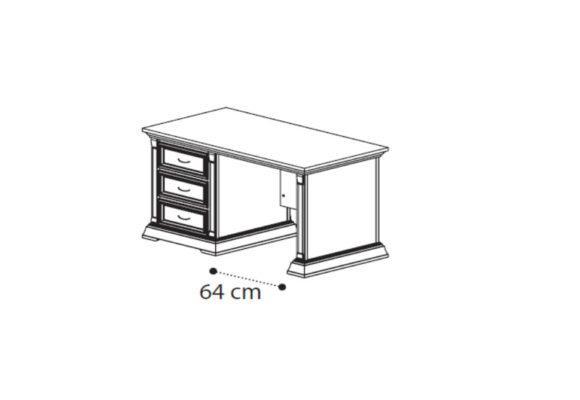 Ξύλινο Γραφείο 145X75 Σε Κερασί Απόχρωση CG-127588