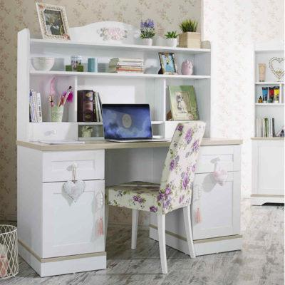 b6468b08a40 Λευκό Vintage Γραφείο Με ή Χωρίς Εταζέρα R-271049 - Έπιπλα για όλο ...