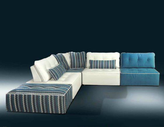 Αναπαυτικός Πολύχρωμος Καναπές Από Πολυθρόνες AS-100079
