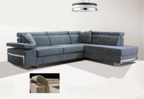 Καναπές Με Προσκέφαλο και Μεταλλικά Πόδια Σε Τετράγωνο Σχήμα AS-100081