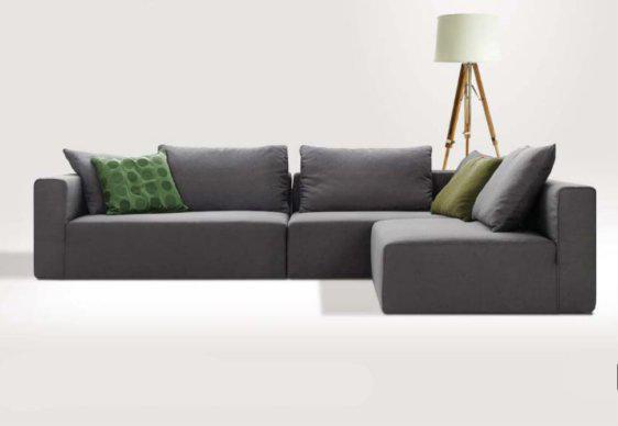 Minimal Γωνιακός Καναπές Για Λιτή Διακόσμηση AS-100087