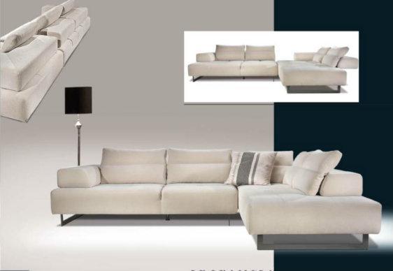 Γωνιακός Καναπές-Κρεβάτι Με Μετακινούμενα Μπράτσα AS-100075