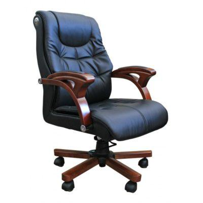 Πολυθρόνα Γραφείου Με Ξύλινη Βάση G-080367