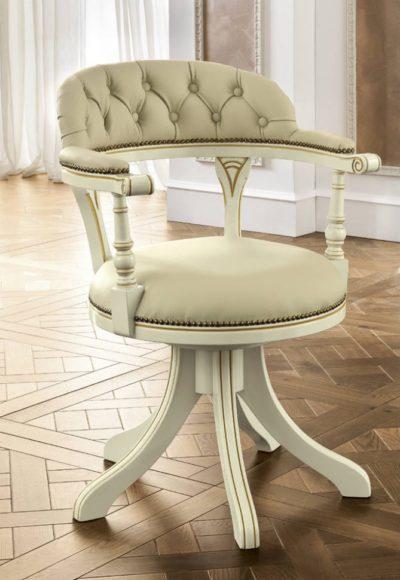Κλασική Λευκή Καρέκλα Γραφείου Με Καπιτονέ Πλάτη CG-080368