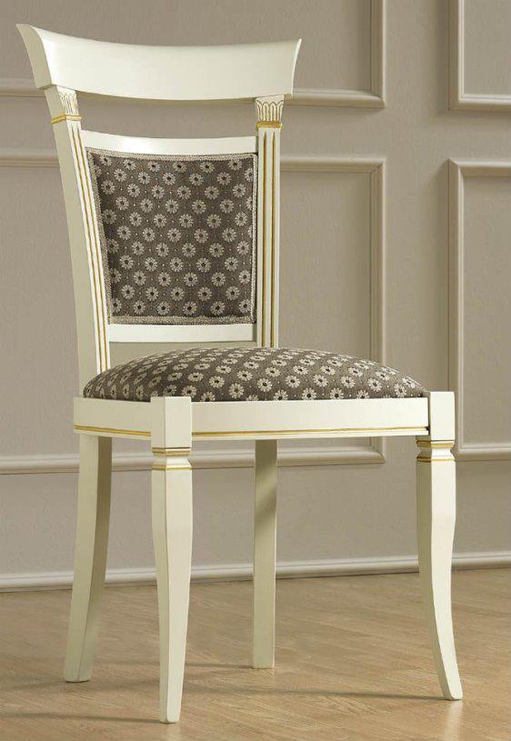 Ξύλινη Λευκή Καρέκλα Με Μαργαρίτες CG-135101