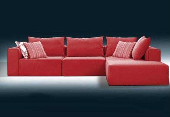 Κόκκινος Καναπές Ελληνικής Κατασκευής Ίρις AS-100092