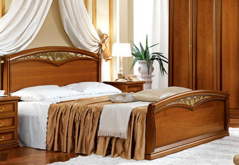 Ξύλινο Ιταλικό Κρεβάτι Διπλό και Υπέρδιπλο CG-370146/1
