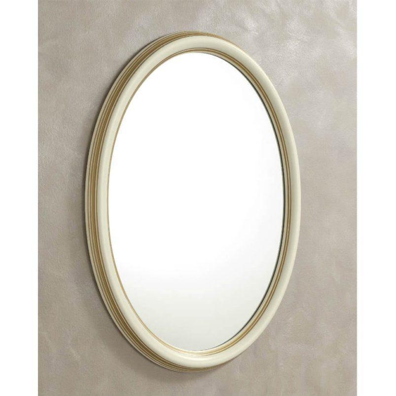 Καθρέφτης Λευκός Με Αντικέ Εμφάνιση CG-330113