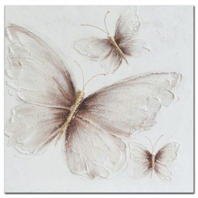 Πίνακας με ανάγλυφες πεταλούδες 80Χ80 Μ-210531