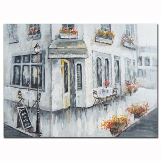 Πίνακας σε καμβά σπίτι-γωνία 60Χ80 Μ-210548