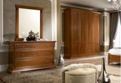 Συρταριέρα από Ξύλο Κερασιάς Σε Αντικέ Απόχρωση CG-370187