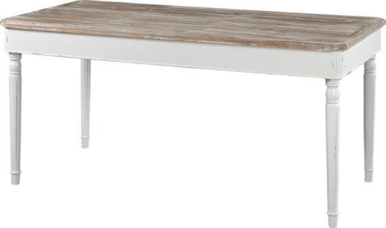Λευκό Ξύλινο Παραδοσιακό Τραπέζι Τραπεζαρίας J-143555