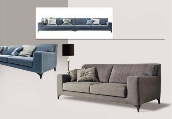 Τριθέσιος Κομψός Καναπές Σε Country Στυλ AS-105016
