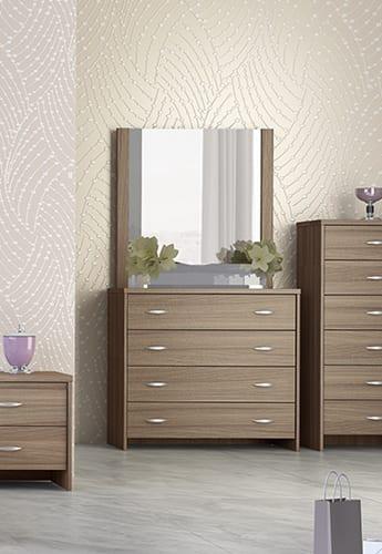 Σιφινιέρα Κρεβατοκάμαρας Με ή Χωρίς Καθρέφτη S-270230