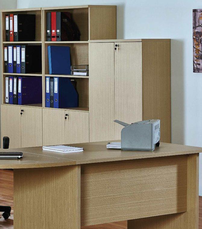 Ερμάριο γραφείου κλειστό 80*38*150εκ για επαγγελματική χρήση Α-125096