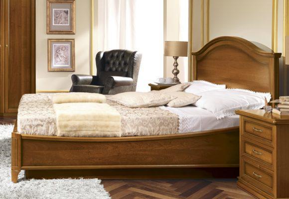 Κρεβάτι από Ξύλο Καρυδιάς με Αντικέ Φινίρισμα CG-050468