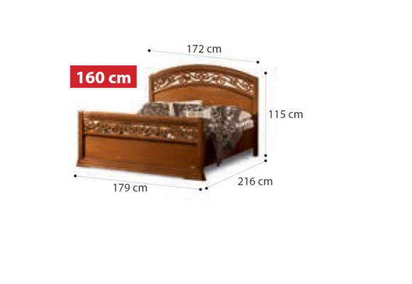 Κλασικό Ξύλινο Κρεβάτι Με Περίτεχνο Σχέδιο CG-050451