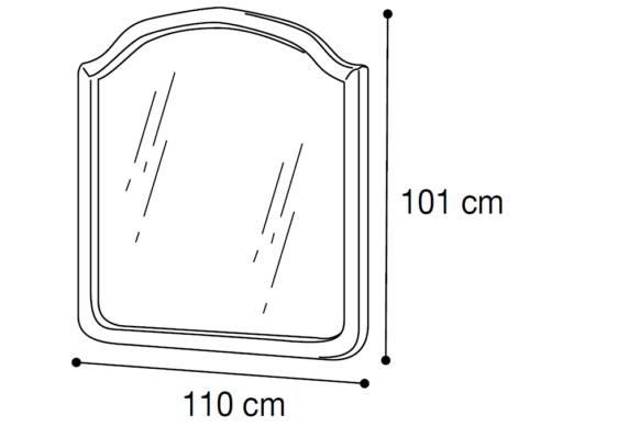 Ιταλικός Καθρέφτης 110ΜΧ101Υ CG-330123