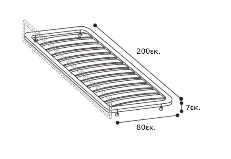 Καναπές - Κρεβάτι Επισκέπτη Με Αποθηκευτικό Χώρο CG-110075