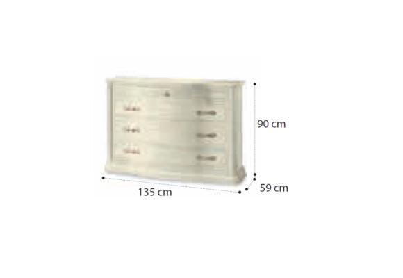 Κλασσική Συρταριέρα με Καμπυλωτά Συρτάρια CG-370191