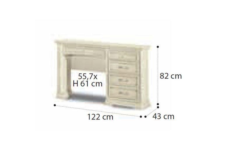 Λευκή ή Καρυδί Τουαλέτα Με Κρυψώνα CG-370198