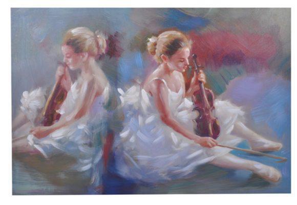 Γυναίκα με Βιολί Πίνακας σε Καμβά Fl-210568