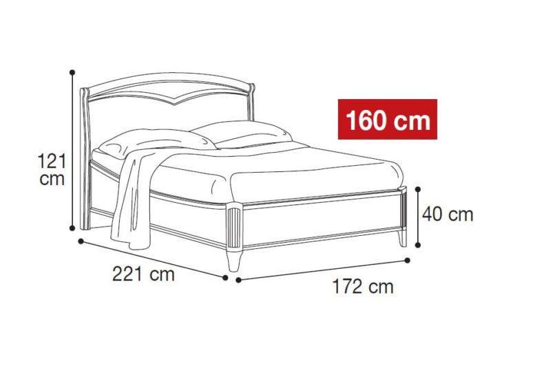 Κρεβάτι με Ορθοπεδικό Τελάρο Σε Καρυδί Απόχρωση CG-050470