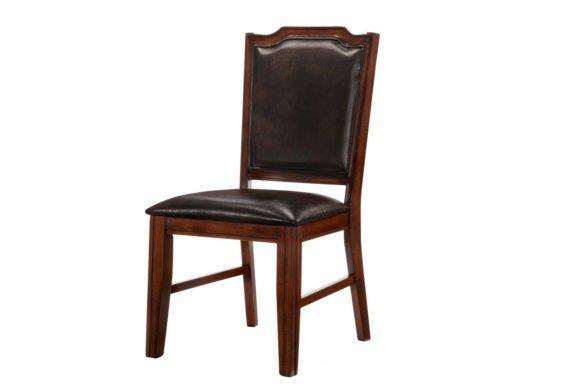 Καρέκλα Κλασσική Με Καφέ Δερματίνη G-135105