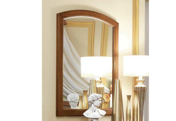 Καρυδί Καθρέφτης με Καμπύλη στην Κορυφή CG-330125